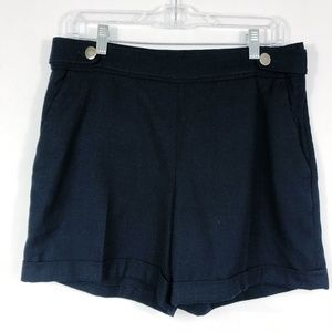 3/30 H&M | Black High Waisted Cuffed Shorts